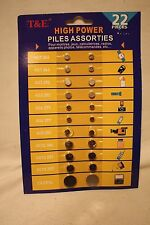 T&E High Power Button/Coin Cell Assortment - 22 pc