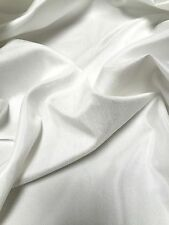 "PLAIN FAUX DUPION RAW SILK 100% POLYESTER FABRIC FREE P&P 54"" WIDE"