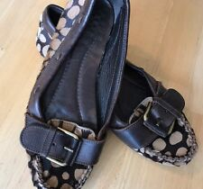 JCREW $228  Calf Hair Driving Mocs 8 Shoes Flats Moccisons Leopard Loafer