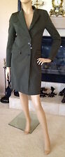 UNIQLO CARINE ROITFELD PARIS WOMEN CHESTER COAT COLOR DARK GREEN NWT SIZE S