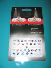 CANADIAN TIRE NHL 30 Team LOGOS Hockey RELOADABLE GIFT CARD