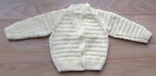 Handknitted Lemon Baby cardigan - Approx 3 to 6 months.