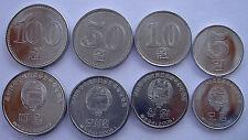 KOREA DEL N. SERIE 4 MONETE 100-50-10-5 WON FDC UNC