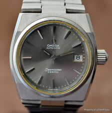 OMEGA SEAMASTER COSMIC GREY RHODIUM DIAL 166.0195 INTEGRATED BRACELET Cal 1012