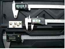 "6"", 8"" & 12"" DIGITAL CALIPER SET HARDENED STAINLESS STEEL WITH 5pc FREE BATTERY"