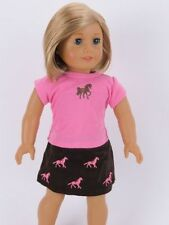 Cowgirl Western Horse Top & Skirt Doll Clothes For 18 Inch American Girl Saige