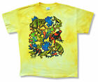"""THE MOUNTAIN """"FROGS"""" YELLOW TIE DYE T-SHIRT NEW OFFICIAL YOUTH KIDS ANIMAL"""