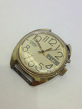VINTAGE MEN'S  RARE RUSSIAN 26 JEWELS  WIND WATCH & MOVEMENT  PARTS REPAIR AS IS