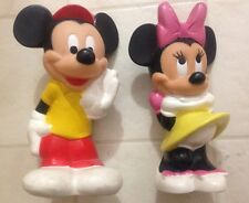 ADORABLE Mickey & Minnie Sesame Street Collectible 80s VINTAGE Toy Squeeky Retro