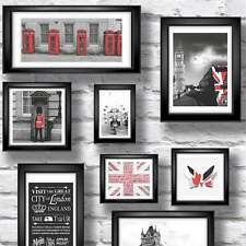 Muriva London Britain in Frame Feature Wallpaper Red / White / Black City Photo