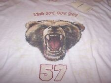 "Lucky Brand ""BEAR"" S/S Sleep Shirt OFF WHITE Men's Lg ~ NWT $30"