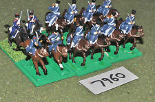 20mm napoleonic prussian dragoons 12 cavalry plastic (7960) painted