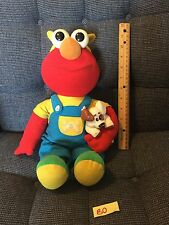 1997 Tyco MAGIC LIGHTS ELMO with BARKING BINGO PUPPY Jim Henson Co. Works 15""