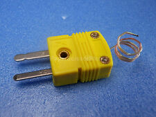 Omega Mini K Type Thermocouple Plug with Direct Short Probe Cable