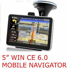 "NAVIGATORE SATELLITARE GPS 5"" TOUCH 4GB 128M + MAPPE EUROPA 2015  WINCE 6.0 !"