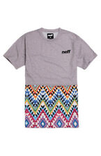 New Mens Neff Furyous Short Sleeve T-Shirt Large Heather Grey Multi