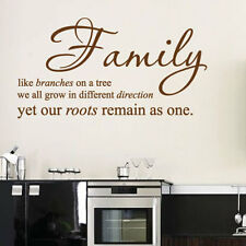 Family Bedroom Wall Quotes Art Wall stickers / Wall decals / Wall Mural 10-1