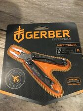 GERBER Tactical Black DIME Micro Keychain Multi-Tool Plier Bladeless Tool