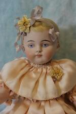 """HUGE 13"""" Antique All Bisque Kling German Doll Barefoot Child Chunky Body c.1890"""
