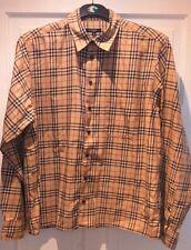 VINTAGE BURBERRY LONDON check Camicia Taglia M