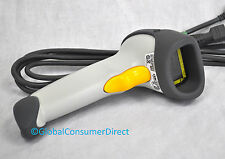Symbol Motorola LS2208 WHITE 1D POS Barcode Reader Scanner  +USB Cable +WARRANTY