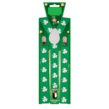 Adulte shamrock bretelles vert irlande irish st patrick's day robe fantaisie rugby fun