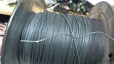 10 ft coil Western Electric 22ga solid core,CLOTH covered BLACK