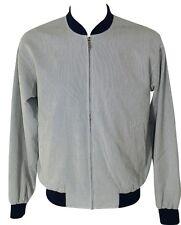 GANT Herren Jacke Blouson Gr. L Blau Weiß gestr. Striped Baseball Jacket B-Ware