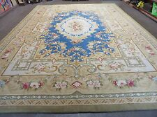 10'X 14' Vintage Hand Made French Savonnerie Versailles Pattern Wool Rug Carpet