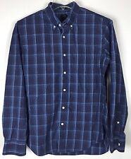 Mens J Crew Shirt Large Slim Fit Button Front Long Sleeve Plaid Cotton