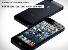 CENTRO ASSISTENZA RIPARAZIONE TOUCH SCREEN VETRO ROTTO IPHONE 5S NERO o BIANCO
