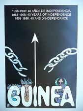 OSPAAAL Political Poster GUINEA 40 YEARS OF INDEPENDENCE CUBAN ORIGINAL ART RARE