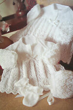 Baby's Matinee Coat, Jacket, Bonnet and Mittens Knitting Pattern
