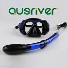 Scuba Diving Equipment Dive Mask Dry Snorkel Set Snorkeling Adult Kid Kit