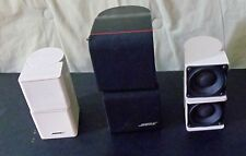 2 Bose Mini Premium Jewel Cube and 1 Double Cube Redline Speakers - 3 total