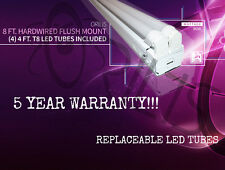 8' 96W Surface Mount Hardwired Ceiling Fixture (4) LED Bulbs Included 6500K