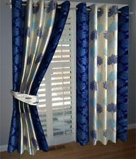 Elegance Blue Abstract Window Curtain Set of 1