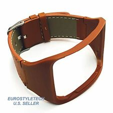 New Elegant Brown Leather Band For Samsung Gear S GearS Smartwatch Smart Watch
