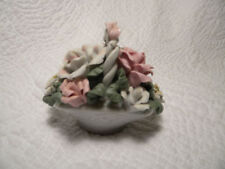 K's Collection Ceramic Basket full of flowers, excellent condition