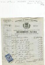 Paris VII ème & Premier - Marchand de Charbons BESOMBES Marquis de Nicholaï 1877