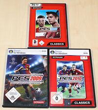 3 PC juegos colección pes pro evolution soccer futbol 2008 2009 2010 --- (2014)