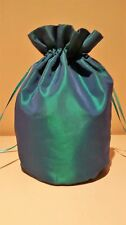 TEAL TAFFETTA DOLLY BAG .BRIDE / BRIDESMAIDS /  WEDDING