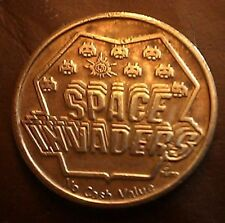 Vintage Rare Space Invaders game token from the 1982 World's Fair Video Expo