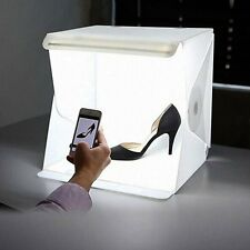 "9"" Folding Portable Lightbox Studio LED Photography Box for Smartphone or DSLR"
