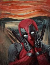 THE SCREAM DEADPOOL MARVEL CHARACTER IMAGE A4 Poster Laminated Gloss Print (New)