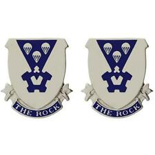 USA  Army Unit Crest 503rd Infantry Motto: THE ROCK   PAIR   NEW  (Army Issue)