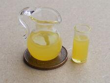 1.12 pichet de jus d'orange et 1 verre poupées maison miniature boisson g40le Accessoire