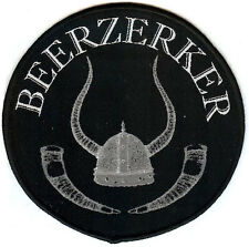 Beerzerker woven patch Viking Norse Thor Odin Valhalla Valkyrie Loki Mead Beer