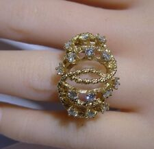 C/W Apprasial Vintage Stamp True Love Large Ring 14k Gold I SI 0.90 CTW Diamonds