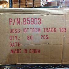 """80pc Factory CASE TYCO TCR Slot less Car Race TRACK 15"""" TERMINAL STRAIGHT B5903"""